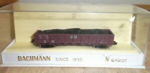 Bachmann N Scale 5021/150 Frisco 42' Outside Braced Gondola With Coal Load Box