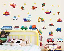 Cartoon car world Wall Decor Vinyl Decal Stickers Removable Nursery Kids Baby
