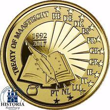Belgien 25 Euro Gold 2017 PP 25 Jahre Vertrag von Maastricht Goldmünze im Etui