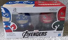MINI MIGHTY MUGGS MARVEL THE AVENGERS 2011 CAPTAIN AMERICA & RED SKULL SET