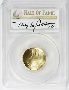 2014 W $5 Gold Baseball Hall of Fame First Strike PCGS MS70 Tony LaRussa Signed