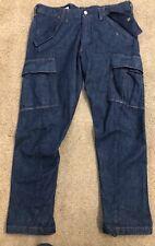 Ltd Ed. LEVI'S Premium Engineered Jeans Denim Cargo Pants Mens 32x32 Slim Cut
