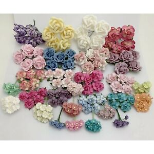 200 Assortment Colors Paper Flower Wedding bouquet Scrapbook TH/8MixA-A1