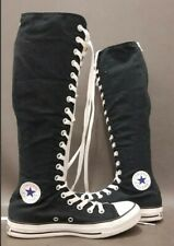 CONVERSE CHUCK TAYLOR ALL STAR KNEE HIGH WOMAN BOOTS LACE-UP BLACK SIZE 5/6