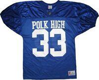 Adult Married with Children Al Bundy Polk High #33 Blue Football Jersey Costume