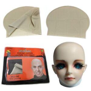 Adult Unisex Reusable Latex Skinhead Supplies Bald Cap Wig Halloween Party Props
