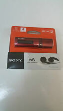 Sony NWZ-B183F Flash MP3 Player Walkman With Built-In FM Tuner (4GB) RED