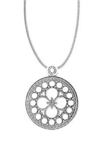 Brighton BASILICA Large Convertible Long Silver Necklace