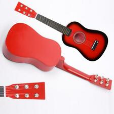New Beginner Kids 6 Strings Acoustic Toy Guitar 23 Inch Color Hot Red