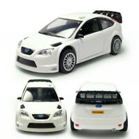 Ford Focus RS WRC Racing Car 1:43 Model Car Diecast Toy Vehicle Kids White New