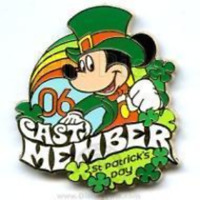 Disney Pin 45580 WDW Cast Exclusive St Patrick's Day Mickey Mouse LE 1000 *