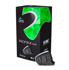 NEW Cardo Packtalk Slim Bluetooth DMC Motorcycle helmet communication and music