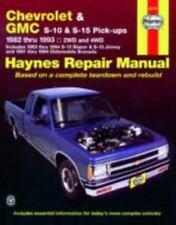 Chevrolet & GMC S-10 & S-15 Pick-ups Repair Manual, 1982 thru 1993, 2WD and 4WD