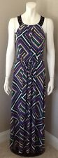 CALVIN KLEIN STRIPED MULTICOLORED MAXI DRESS NEW WITH TAGS SIZE XSMALL