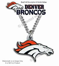 DENVER BRONCOS NECKLACE MALE FEMALE STAINLESS STEEL CHAIN NFL  - FREE SHIP #CB'