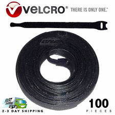 100 VELCRO Brand Ties Cable Cord Organizer Wraps Reusable Die Cut Strap 8""