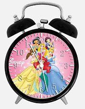 "Disney Princess Alarm Desk Clock 3.75"" Room Office Decor D42 Nice For Gift"
