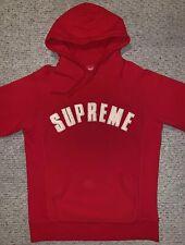 Supreme Arc Logo Hoodie Large Red Chenille SS17 Hooded Sweatshirt Box Logo 1 2 3