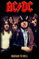 AC/DC Highway To Hell Band Poster Flag Fabric Textile Tapestry Wall Banner