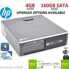 FAST WINDOWS 7 PRO HP ELITE SFF DUAL CORE PC CHEAP DESKTOP COMPUTER 4/160GB WiFi