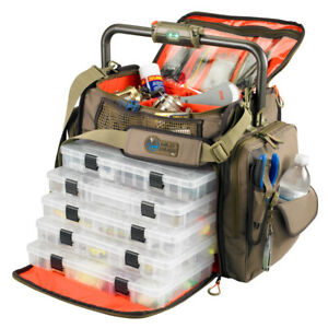 Wild River FRONTIER Lighted Bar Handle Tackle Bag w/ 5 PT3700 Trays  (WT3702)