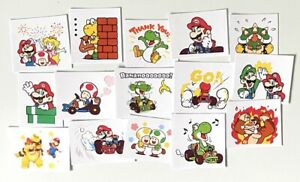 Super Mario Stickers Waterproof Mario Luigi Scrapbook Gaming