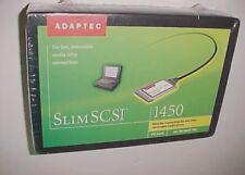 Adaptec SlimSCSI 1450 Kit PC Card CardBus Adapter APA-1450B Win95 New