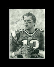 Tom Brady football new england patriots drawing from artist art imege poster
