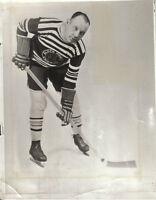 "1933 (Feb. 2) Hockey Wire Photo, Clarence ""Taffy"" Abel, Chicago Blackhawks"
