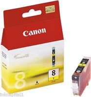 Canon original OEM AMARILLO CARTUCHO DE TINTA cli-8y, CLI8