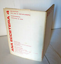 ANA ECCETERA n.4 1961[poesia verbovisiva,Martino Oberto,avanguardia