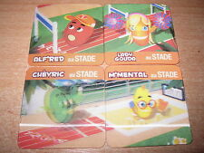 FRENCH EXCLUSIVE 3-D 3D BABYBEL CHEESE COMPLETE 4 CARDS STADE SET MINT 90'