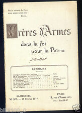 Frères d'armes dan la foi pour la patrie .N° 15 . 15 février 1917 ..