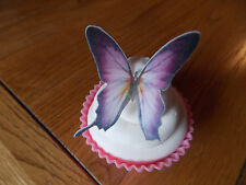 12 PRECUT Edible Purple & Lilac wafer paper Butterflies cake/cupcake toppers