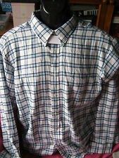 mens long sleeve shirt. by john ashford NWT size L to fit chest 95cm  blue plaid