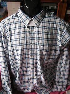 mens long sleeve shirt. by john ashford NWT size L to fit chest 95cm  blue plaid