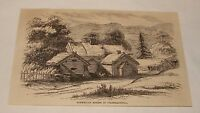 1880 magazine engraving ~ NORWEGIAN HOUSES IN GULDBRANDSDAL