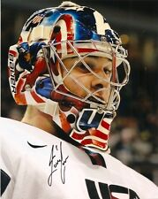 Team USA Jack Campbell Captain America Mask  Signed Autographed 8x10 Photo COA