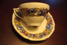 CROWN DUCAL - A.G. RICHARDSON 10 COFFEE cups/saucers-FLORENTINE [*93]