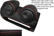 RED STITCH RADIO SURROUND LEATHER SKIN COVER FITS LOTUS ELISE EXIGE S2 07-13