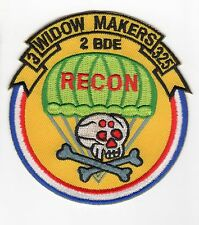 2 BDE Recon - 3-325 Widow Makers BC Patch Cat. No. C5661