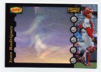 1996 Pinnacle Dennys IVAN RODRIGUEZ Rare HUGE HOLOGRAM CARD #21 Texas Rangers SP