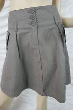 OJAY grey ash 100% cotton pocket A-line skirt size 10 BNWT