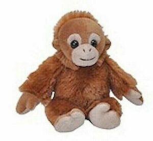 "~❤️~Wild Republic ORANGUTAN BABY Monkey 4"" 14cm Soft Toy Plush Animal BNWT~❤️~"
