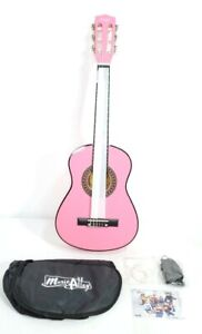 """Kid Beginners Pink Guitar 30"""" Classical Acoustic Set with Bag Picks Tuner Strap"""