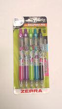 1pk, Zebra Z-Grip Ball Point Pen, Medium Point, 1 mm, Assorted Ink - 5 pens