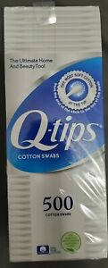 Q-Tips Cotton Swabs, 500 Pack, Soft Tips, 100% Pure Cotton Free Shipping