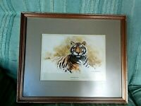 TIGER SKETCH BY DAVID SHEPHERD SIGNED LIMITED EDITION 172/850 GALLERY STAMP