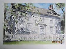 "Rockwell Hall, Colebrook, CT / Original Watercolor / Framed / 19"" x 15""/ Mimi Da"