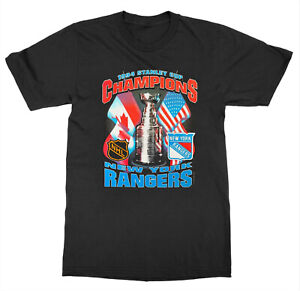 New York Rangers Vintage 90s Stanley Cup Starter T Shirt Vintage Reprint TK3361